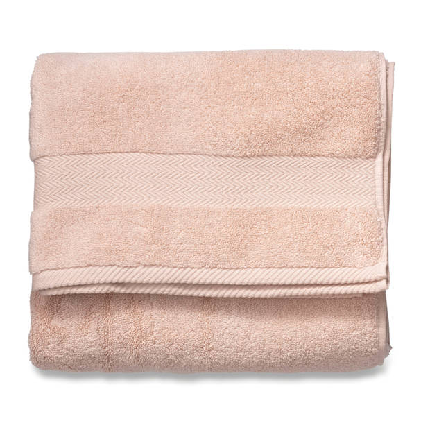 Blokker handdoek 600g - roze - 70x140 cm