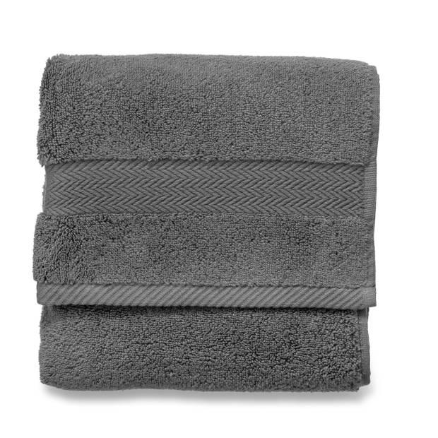 Blokker handdoek 600g - antraciet - 50x100 cm