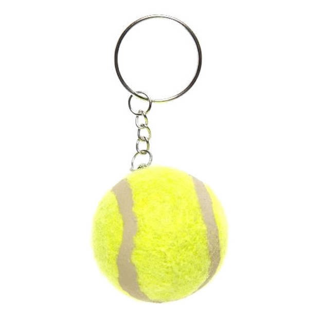 LG-Imports sleutelhanger tennisbal junior 4,5 cm geel