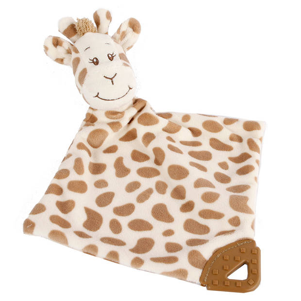 Take Me Home knuffeldoekje Giraffe 33 x 33 cm pluche bruin