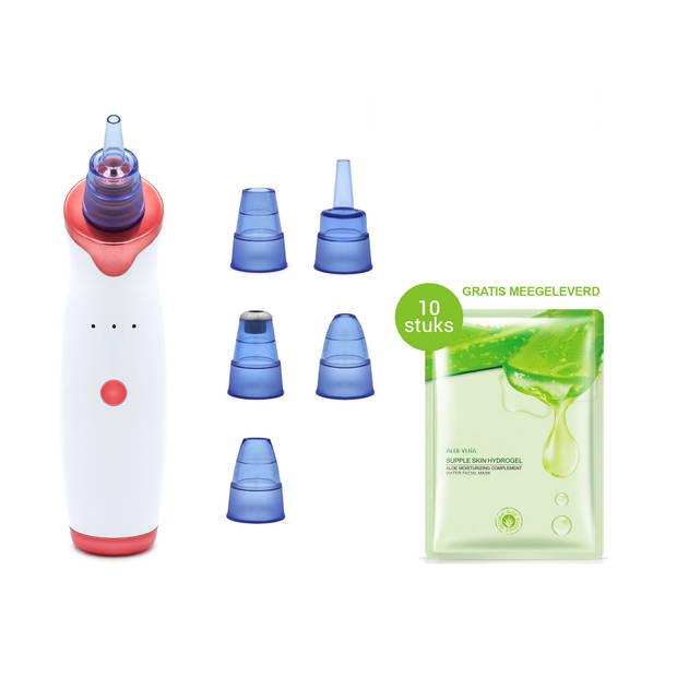 JAP Beauty - Blackhead remover-Pore suction cleaner met 5 opzetstukken