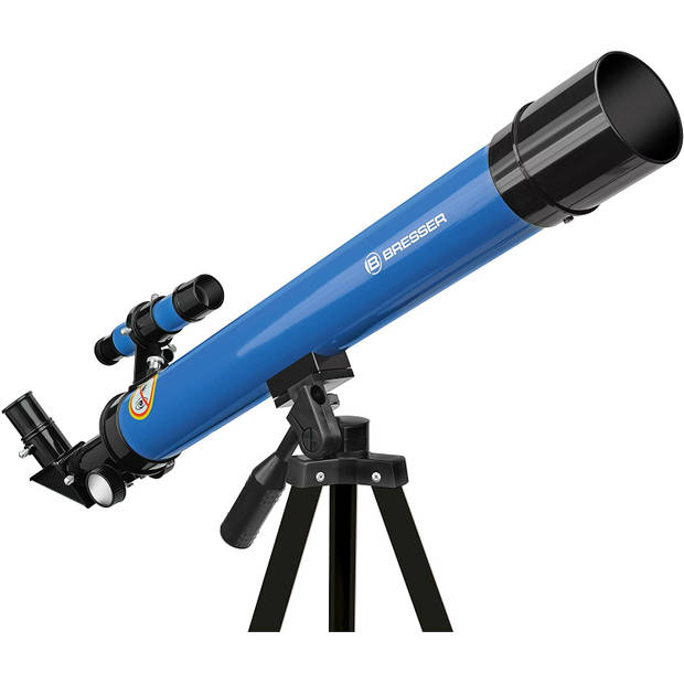 Bresser telescoop 45/600 junior 56 cm aluminium blauw 10-delig