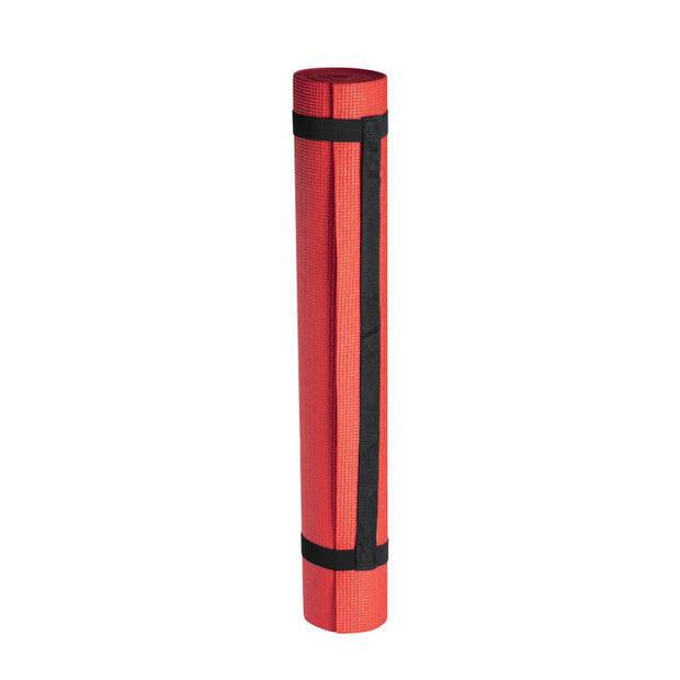 Yogamat/sportmat - Rood - 180 x 60 cm - Thuis sporten - Rode pilates/yoga mat - Sport/fitness benodigheden