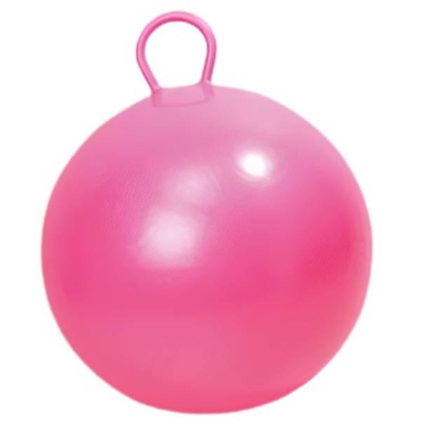 Playfun skippybal 45 cm pvc/vinyl roze