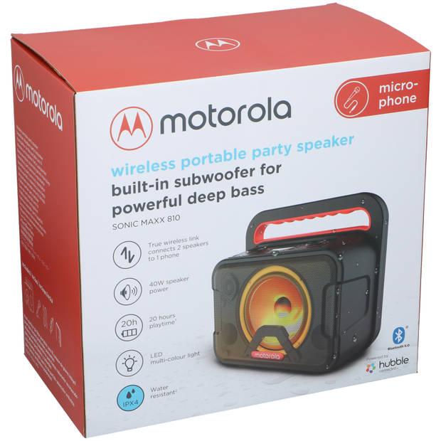 Motorola Speaker Sonic Maxx 810 - 40 Watt - Bluetooth 5.0 - Microfoon