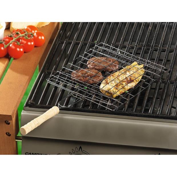 Set van 3x stuks vierkante barbecueroosters / bbq roosters met handvat 40 cm - barbecue accessoires