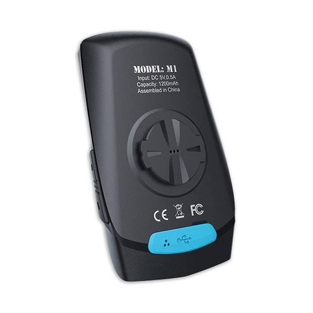 Meilan fietscomputer GPS-navigatie oplaadbaar 2,6 inch zwart