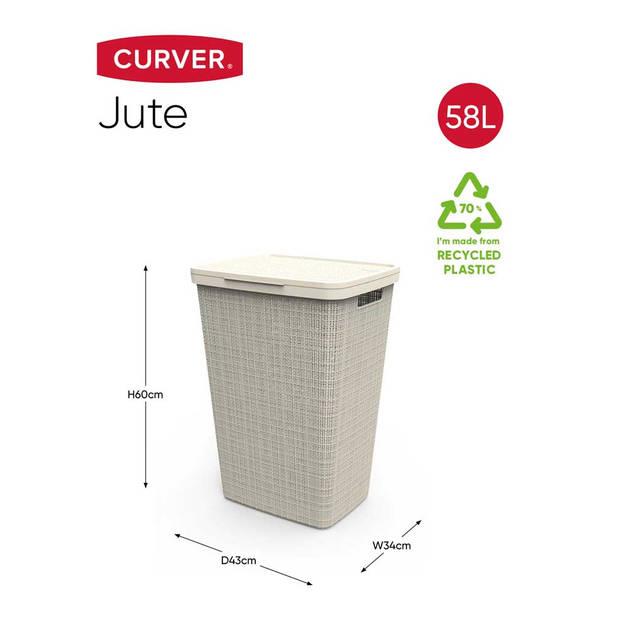 Curver Jute Wasbox - 58L - gebroken wit