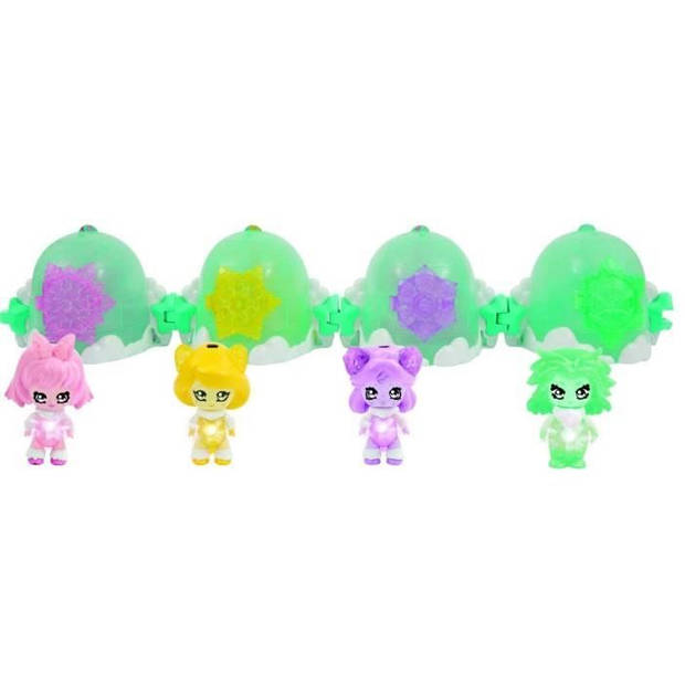 GLIMMIES Polaris House Glimgloo House Igloo + 1 Glimmies Exclusieve Angelika - Mini Collectible Figurines