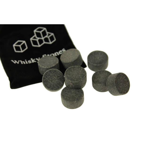 United Entertainment ijsblokjes wisky stones natuursteen grijs 9 stuks