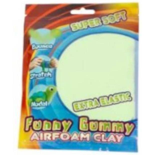 Funny klei Gummy Airfoam junior 55 gram lichtgroen
