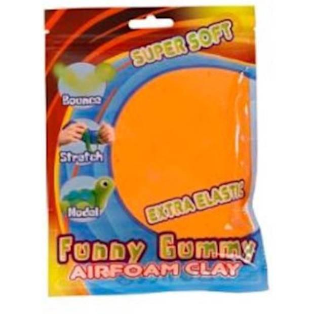 Funny klei Gummy Airfoam junior 55 gram oranje