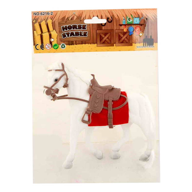 Jonotoys paard junior 22 x 18 cm wit/rood 3-delig