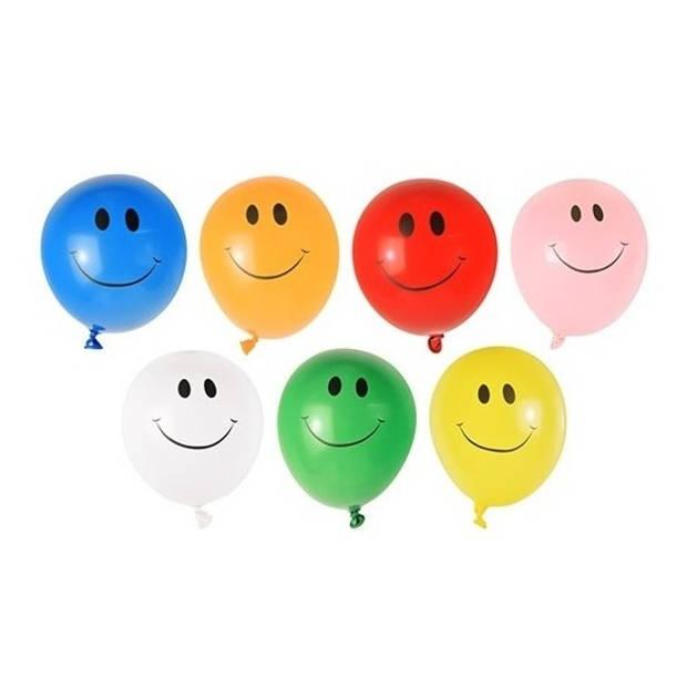 80x Grote waterballonnen met smiley - watergevecht ballonnen - zomer speelgoed