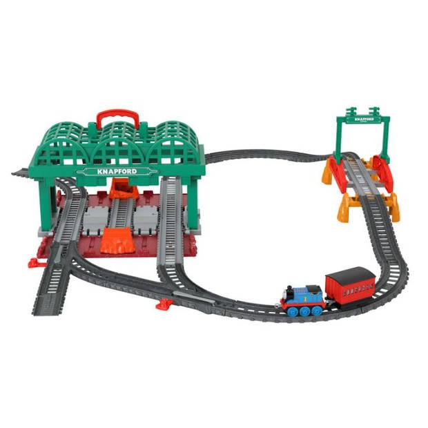 Thomas de Trein speelset treinstation TrackMaster groen 28-delig