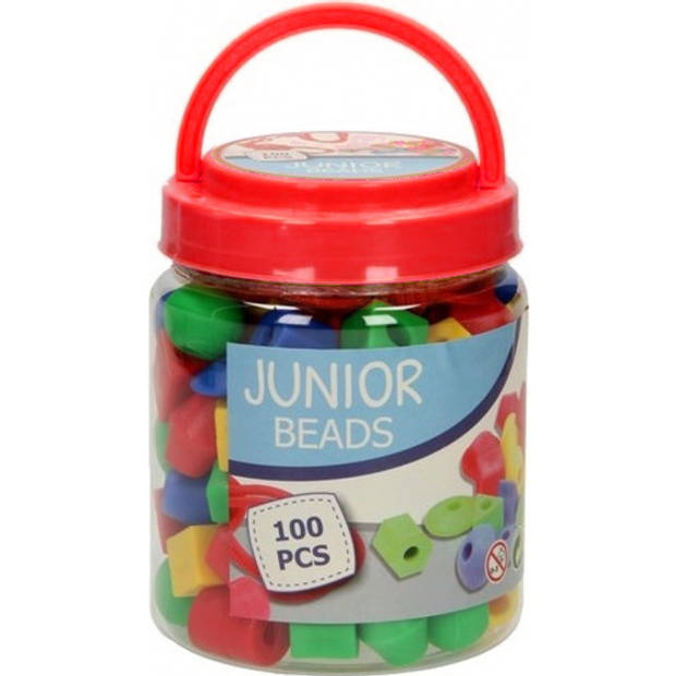 Johntoy kralenset junior 2-3 cm rood 102-delig