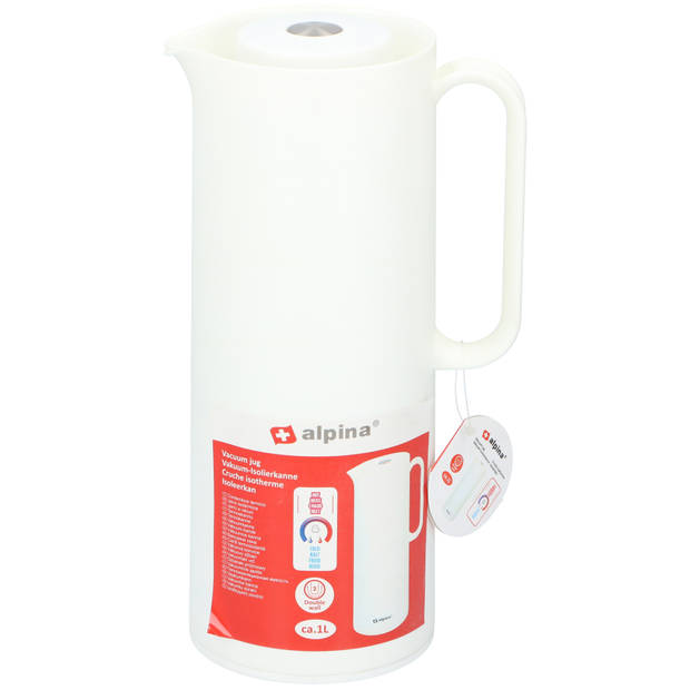 Alpina Thermoskan - Isoleerkan - 1 Liter - Wit
