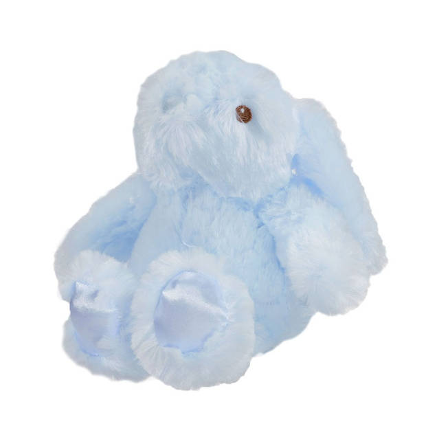 Soft Touch knuffelkonijn junior 20 cm polyester blauw