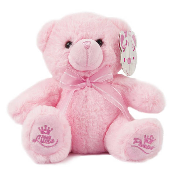 Soft Touch knuffelbeer Little Princess 18 cm polyester roze