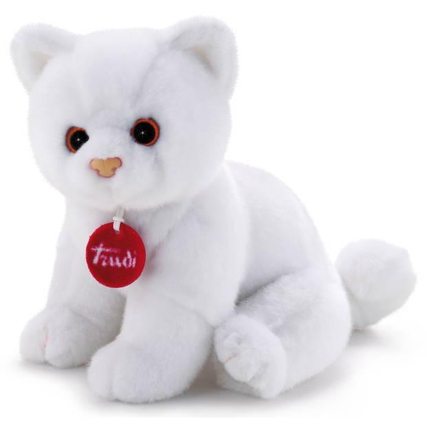 Trudi knuffel kitten Brad meisjes 24 cm pluche wit
