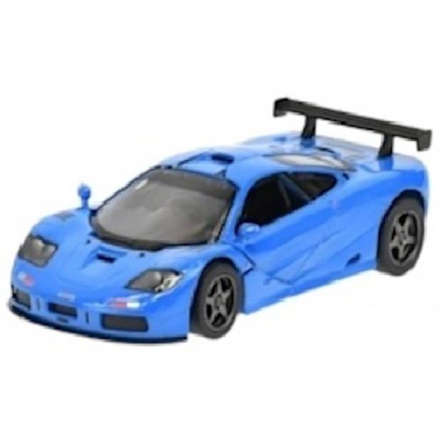 Kinsmart auto McLaren F1 GTR jongens die-cast alu 1:36 blauw