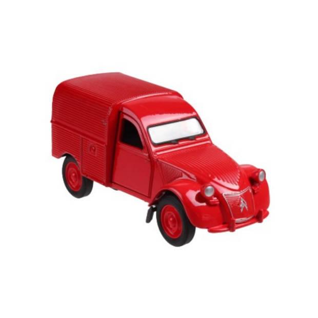 Welly busje Citroen 2CV Fourgonnette 12 cm die-cast rood