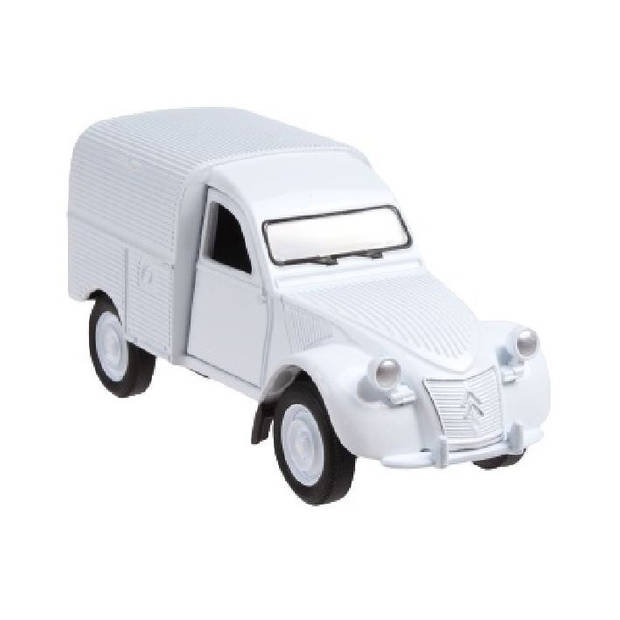 Welly busje Citroen 2CV Fourgonnette 12 cm die-cast wit