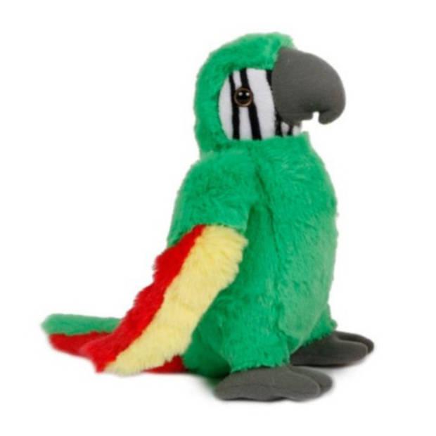 Take Me Home knuffel papegaai junior 23 cm pluche groen