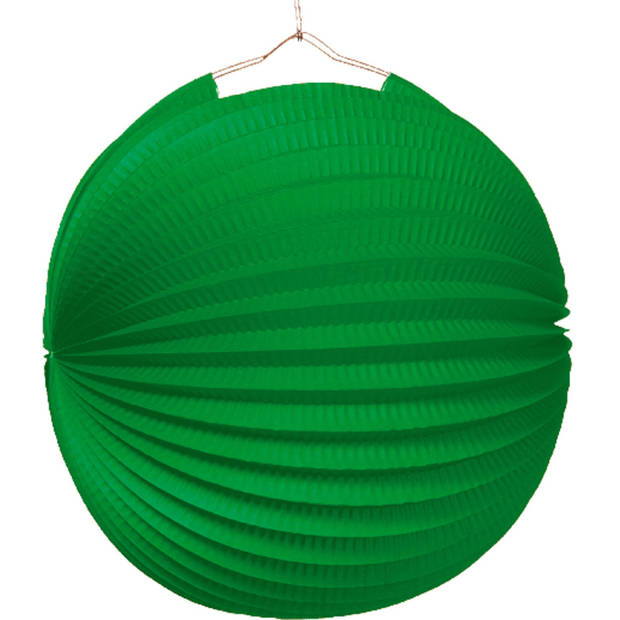 Amscan lampion 25 cm papier/metaal groen