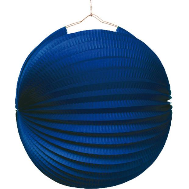Amscan lampion 25 cm papier/metaal blauw