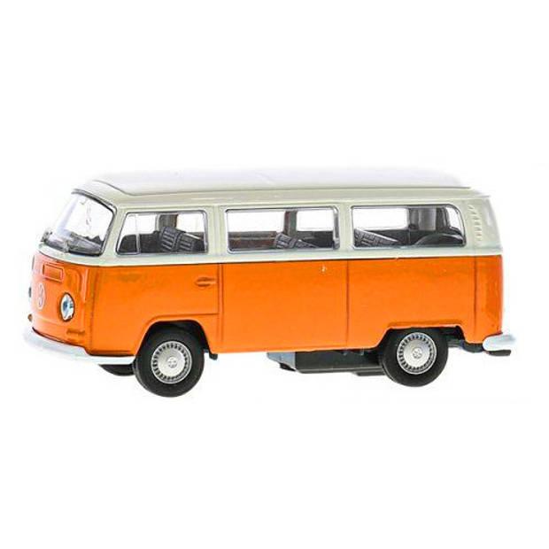 Kinsmart bus Volkswagen T2 jongens 12 cm die-cast oranje