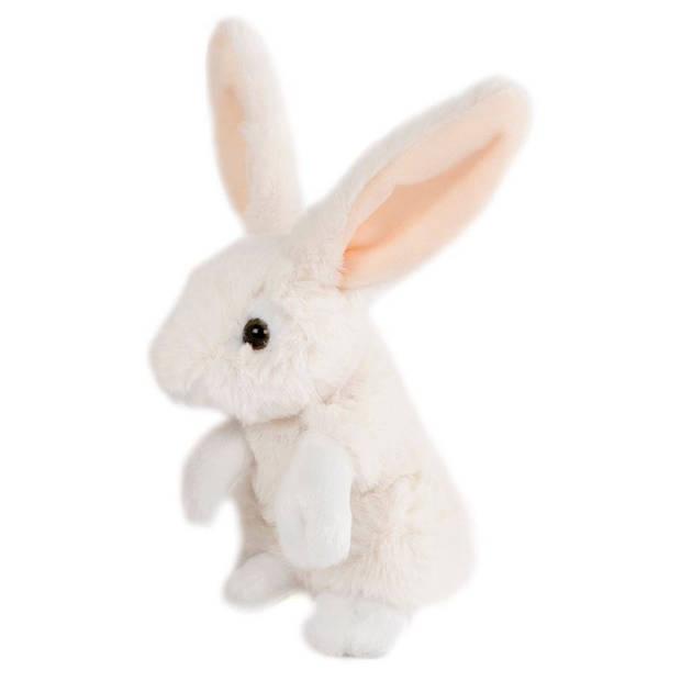 Take Me Home knuffel konijn junior 16 cm pluche wit