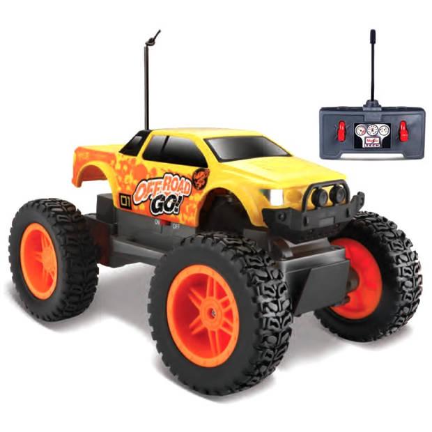 Maisto monstertruck Tech RC Off Road geel
