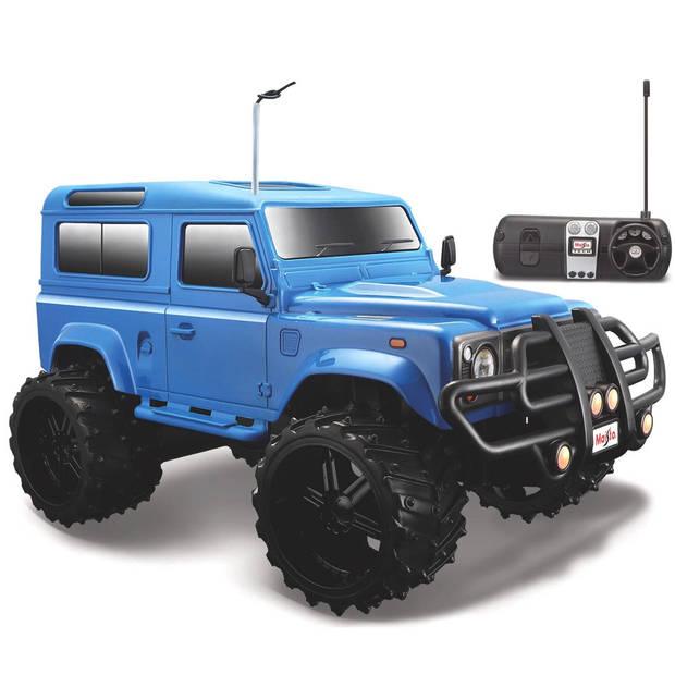 Maisto auto Tech Land Rover Defender 1:16 27/40 MHz blauw