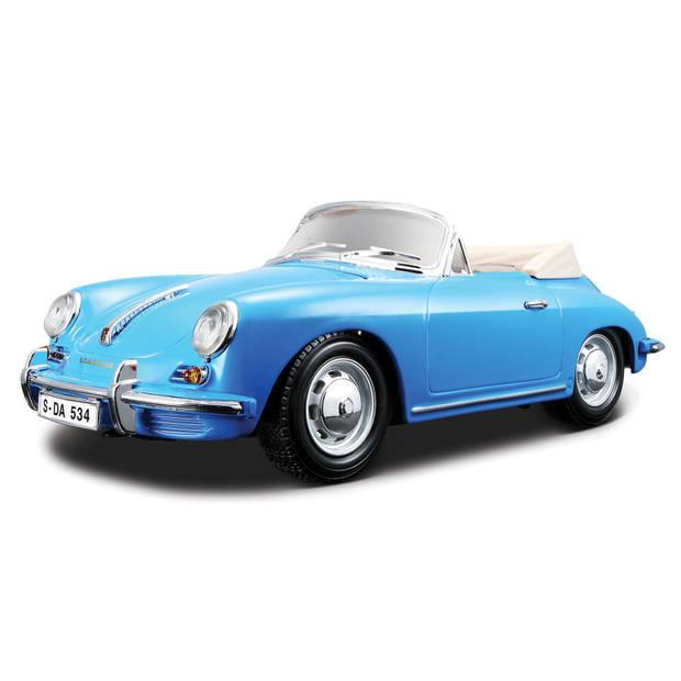 Bburago sportauto Porsche Cabrio 1:18 blauw