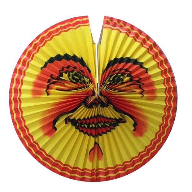 Amscan Lampion zon 42 cm papier/staal rood/geel