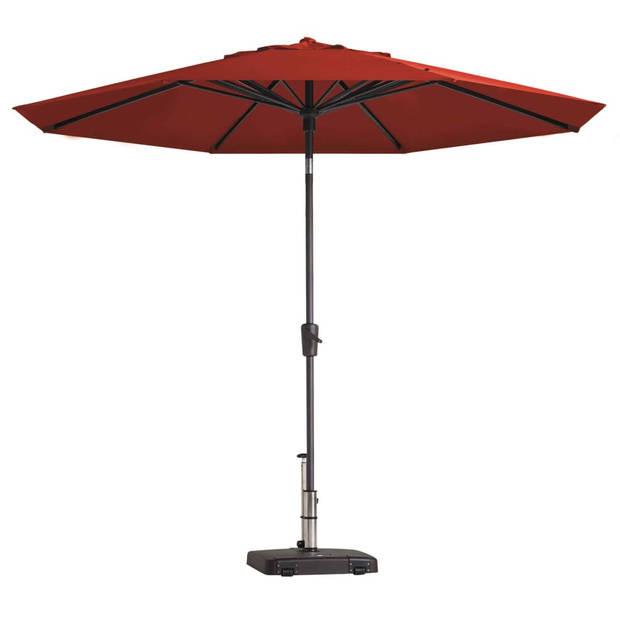 Madison Parasol Paros rond 300 cm steenrood