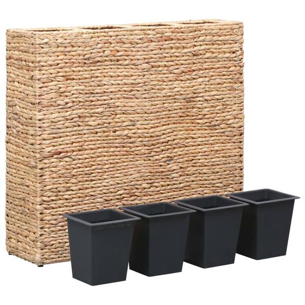 vidaXL Plantenbak verhoogd met 4 potten waterhyacint