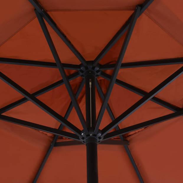 vidaXL Tuinparasol met aluminium paal 500 cm terracotta