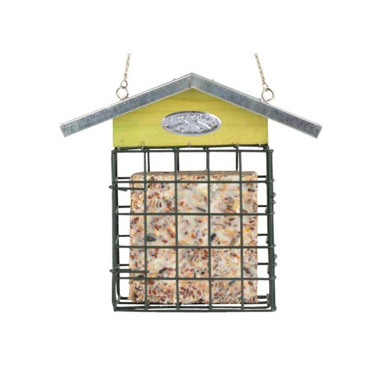 Vetblokhouder met zinken dak online kopen