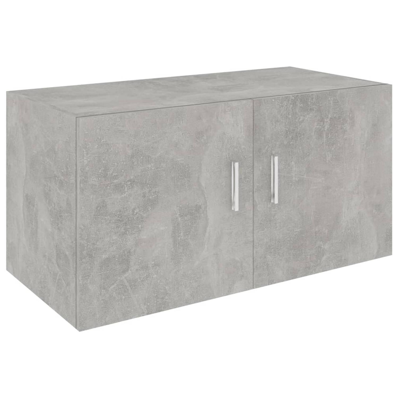 vidaXL Hangkast 80x39x40 cm spaanplaat betongrijs