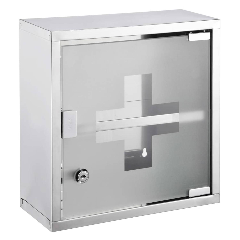 Korting Hi Medicijnkast 30x12x30 Cm Roestvrij Staal