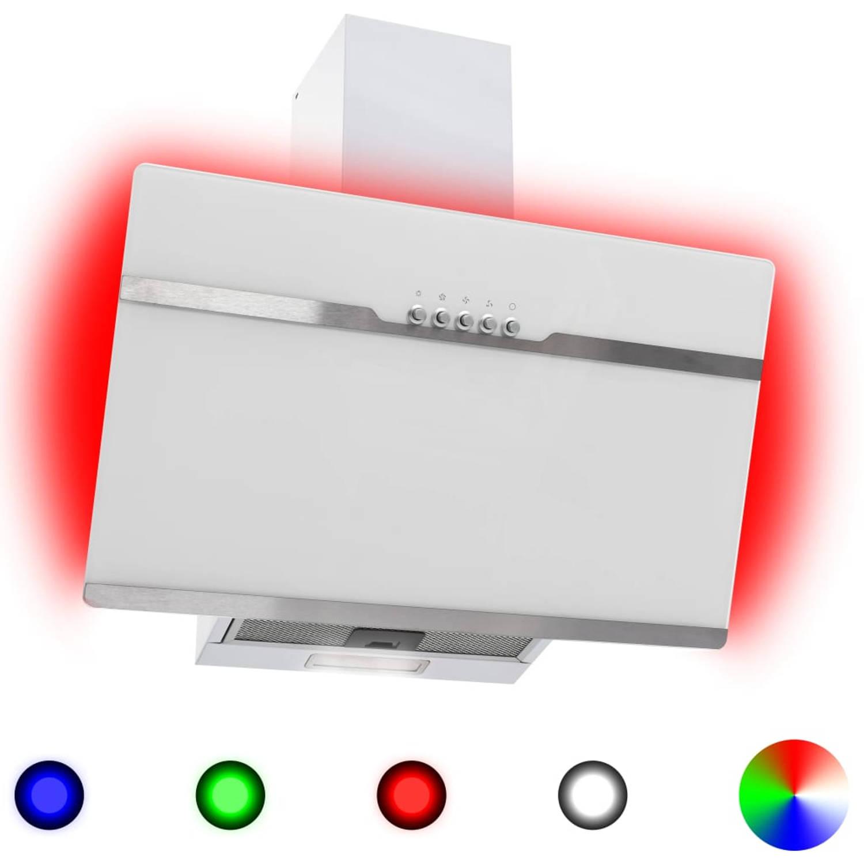 vidaXL Afzuigkap RGB-LED 60 cm roestvrij staal en gehard glas