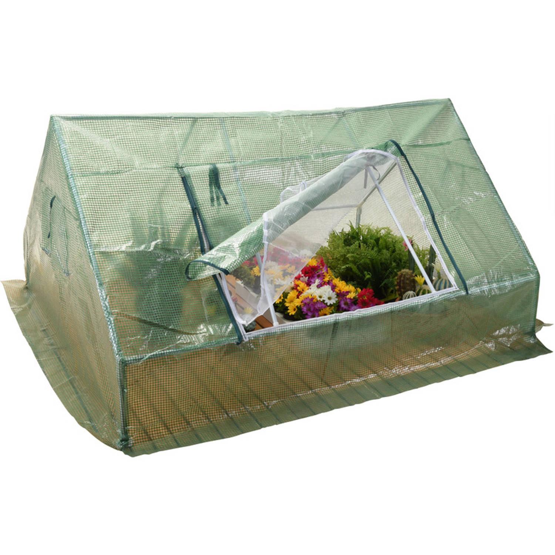 Kweekkas/broeikas/foliekas kunststof 180 cm - Groenten/planten en kruiden kas