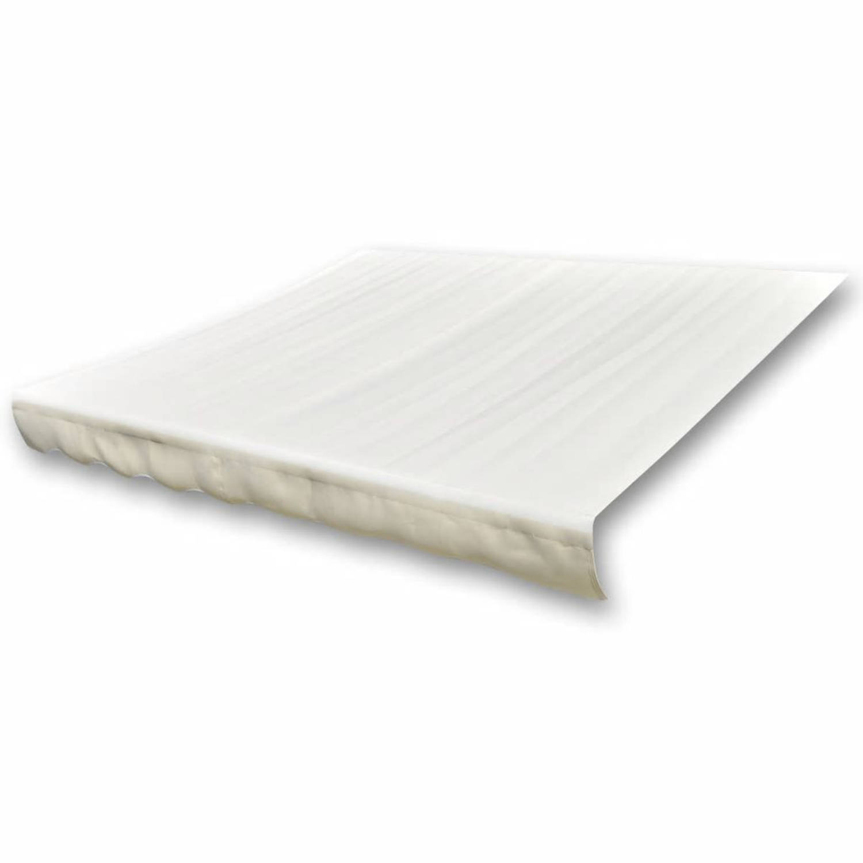 vidaXL Luifeldoek 4x3 m canvas crème