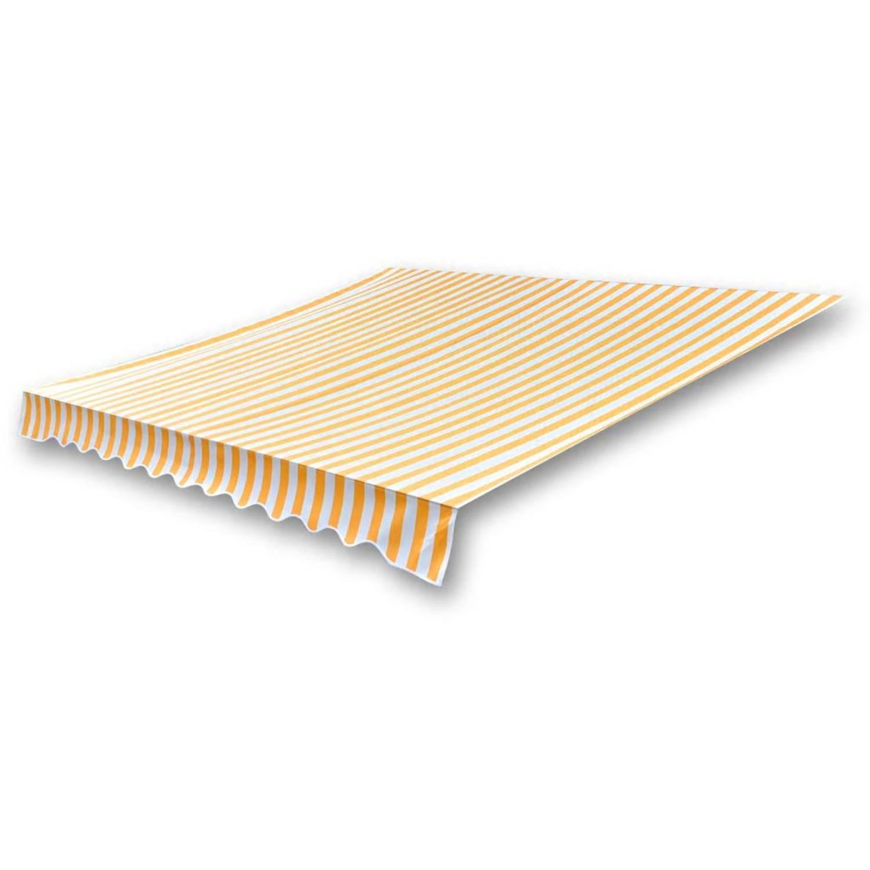 vidaXL Luifeldoek 3x25 m canvas zonnebloemgeel en wit