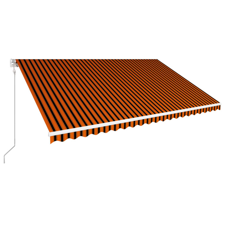 Vidaxl Luifel Automatisch Uittrekbaar 500x300 Cm Oranje En Bruin