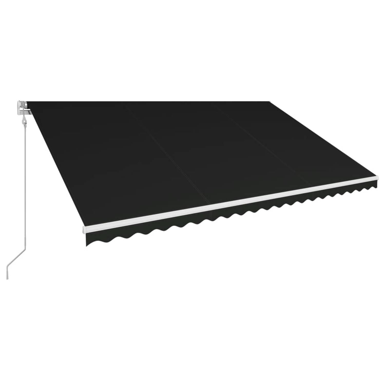 Vidaxl Luifel Automatisch Uittrekbaar 500x300 Cm Antraciet