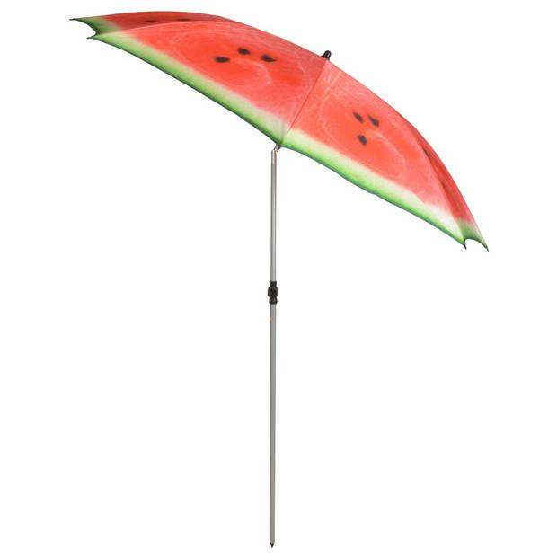 Esschert Design Parasol Watermelon 184 cm rood en groen TP262