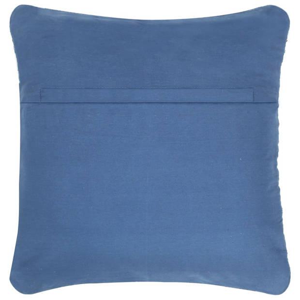 vidaXL Kussens denim chindi 60x60 cm katoen blauw